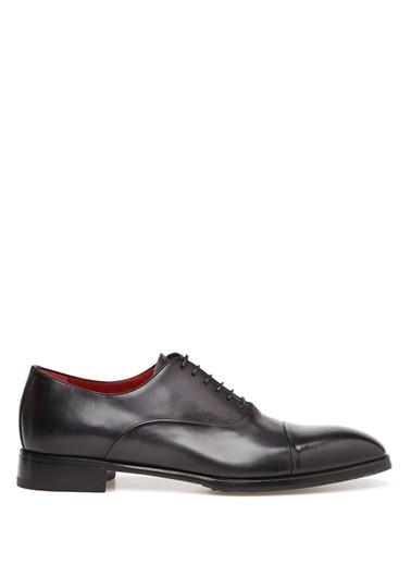Barrett %100 Deri Bağcıklı Klasik Ayakkabı Gri